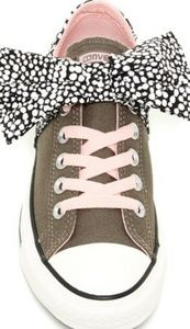 Converse Betty Oxford Bow Slip Sneaker Grey Pink 9